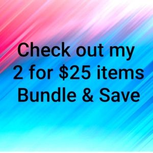 Lots of items 2 for $25